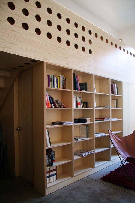 Plywood bookcase.