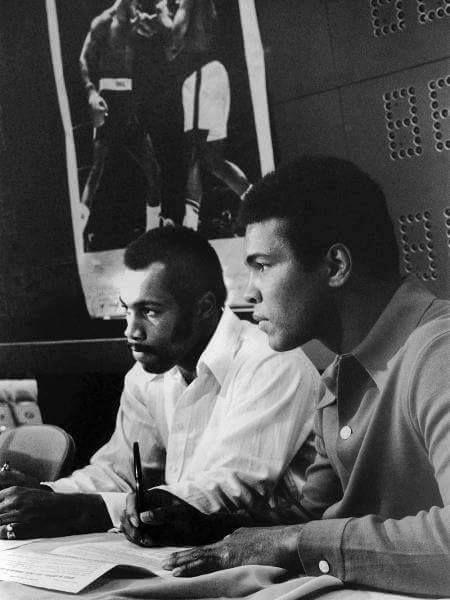 Mar. 1973: Boxers Muhammad Ali and Ken Norton at a press conference