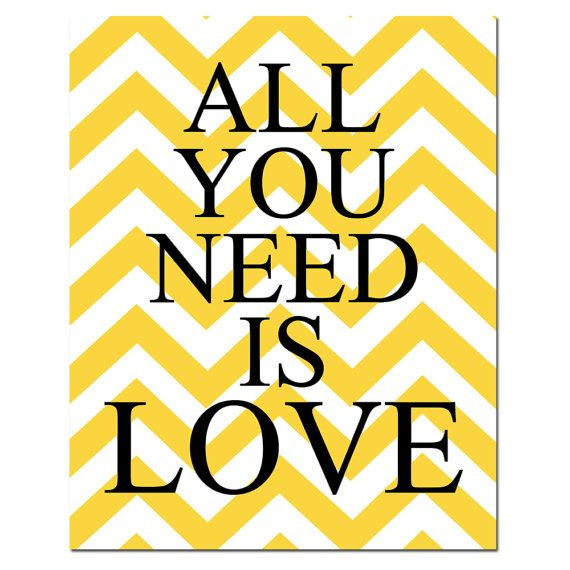 All You Need Is Love  8 x 10 Chevron Beatles Quote by Tessyla, $20.00