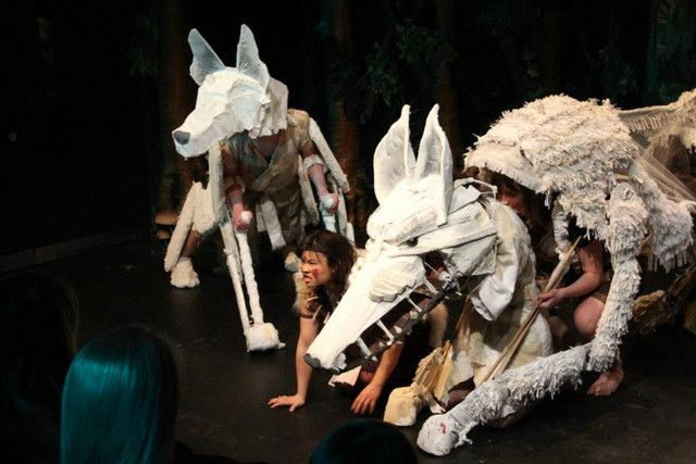 I wish I could see this--it looks amazing! Princess Mononoke Theater Production Pictures   The Mary Sue