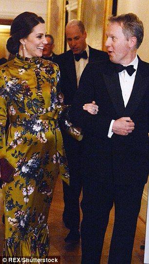The Duchess of Cambridge with the ambassador... #katemiddleton #royals