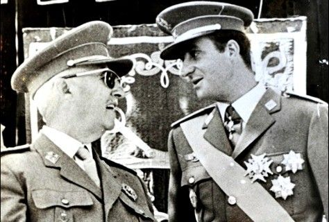 June 2, 2014. Photos of Juan Carlos with Franco are avoided by most of the Spanish press. Despite the fact that Juan Carlos was appointed by dictator Franco, many Spanish newspapers today forget this essential episode when review his life in pictures. Many do not include any photo where they are seen together.