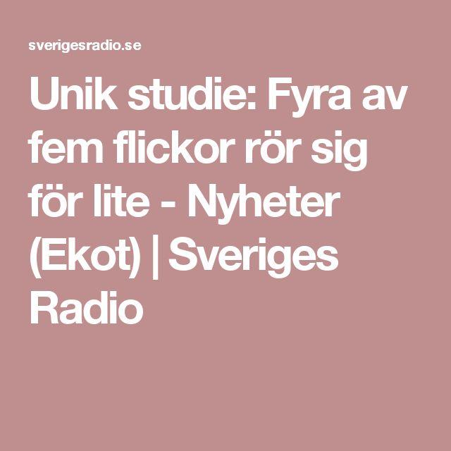 Unik studie: Fyra av fem flickor rör sig för lite - Nyheter (Ekot) | Sveriges Radio