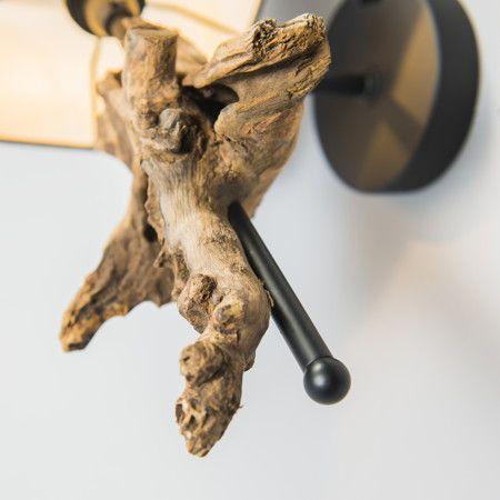 Kinkiet Suchin naturalny brązowy