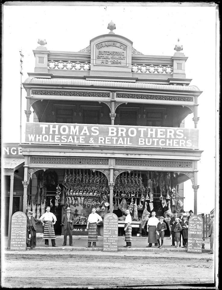 Thomas Brothers Butcher Shop, 203 to 205 Hunter Street West, Newcastle, NSW, 9 November 1904