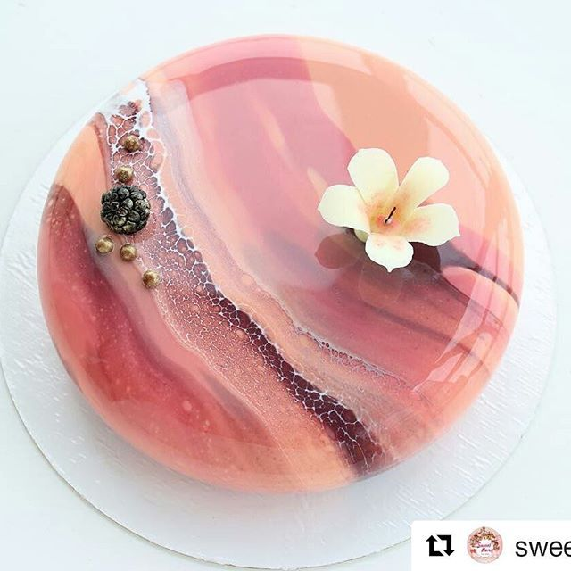 Blackberry and Blackcurrant Entremet. Gosh, this is absolutely beautiful - too pretty to eat!