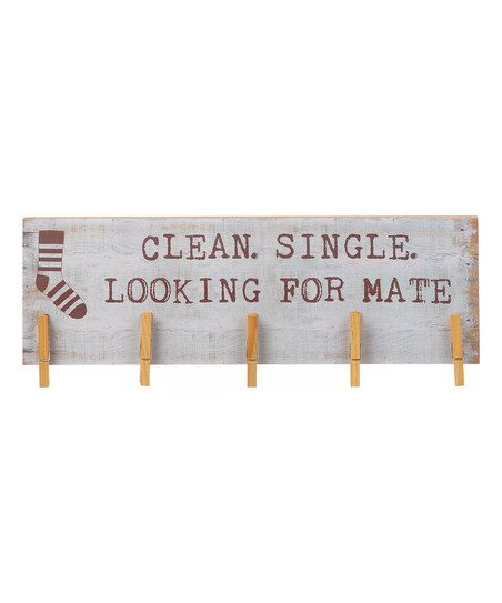 DIY inspiration-'Looking for Mate' Sock Hanger Sign {SOLE MATE}