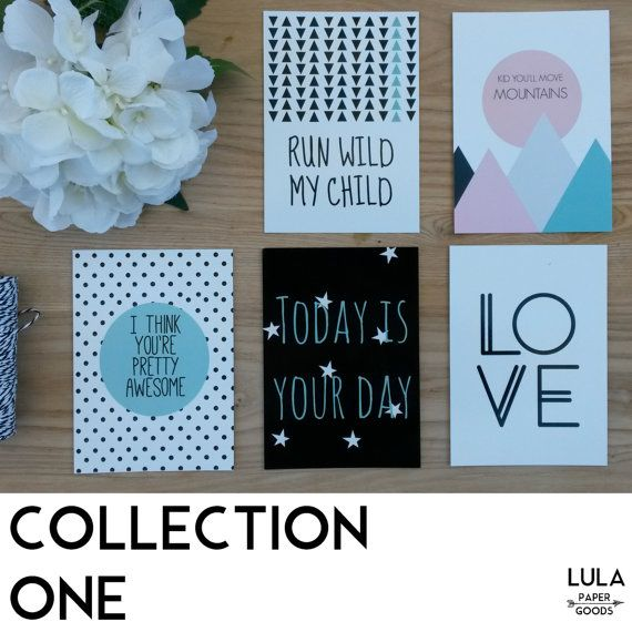 Jumbo GIFT TAG  Mixed Design  5 pack  greeting by LuLaPaperGoods