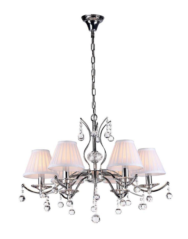modern kronleuchter selena chrom kronleuchter schirm. Black Bedroom Furniture Sets. Home Design Ideas