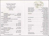 Wedding Program Example Source Theweddingprinter