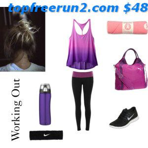 Nike 'Free 5.0' Running Shoe (Women) available at #freerun50 com In black & pink     #Cheap #Nike #Free Outfit Discount