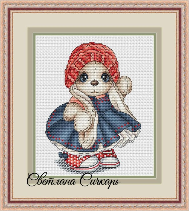(1) Gallery.ru / Bunny in a turquoise dress - Children's items (extra charge) - Sichkar