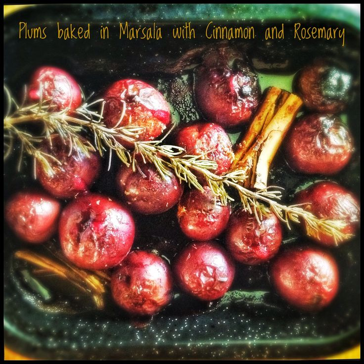 Plums, Apples, and/or Pears, Baked in Marsala or Port