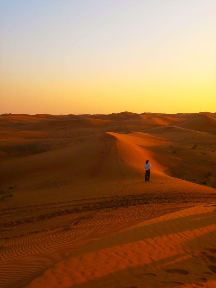 desert sunset , Dubai
