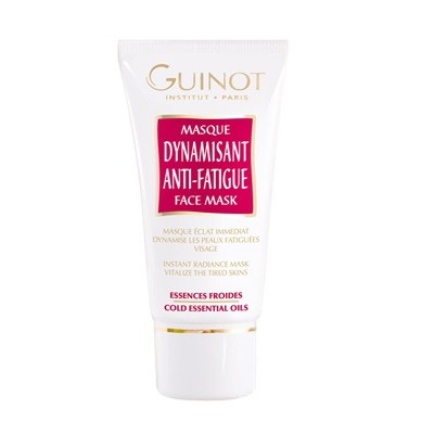 An instant radiance face mask formulated to tone and moisturise the skin. With a special blend, including mint and eucalyptus essential oils, Guinot Dynamisant Anti-Fatigue Face Mask works to invigorate the skin, restoring the complexion and leaving it cool and refreshed.