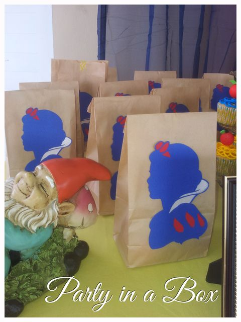 Snow White Birthday Party Favors!  See more party ideas at CatchMyParty.com!