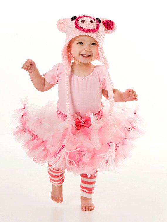 Petti Tutu Skirt Halloween Or Birthday Costume Pink Squiggly