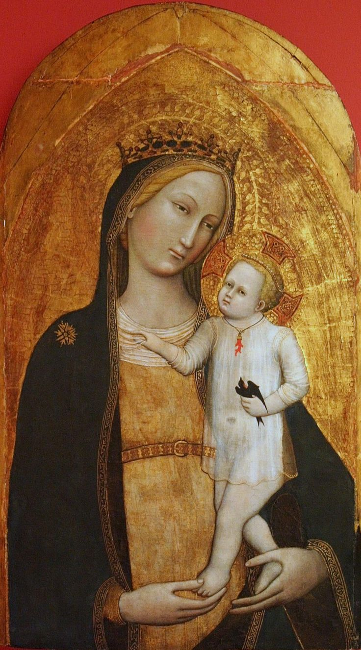 Master of the Straus Madonna — Madonna and Child, 1385-1389 : The Bonnefanten Museum, Maastricht. Netherlands (1000x1802)