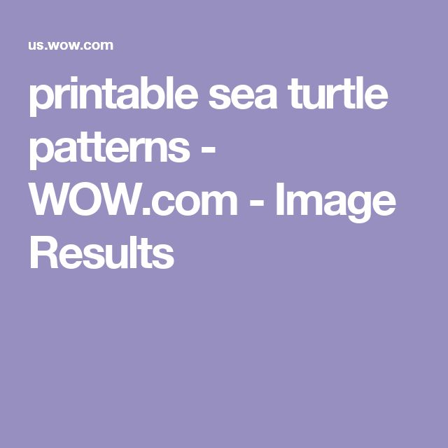 printable sea turtle patterns - WOW.com - Image Results