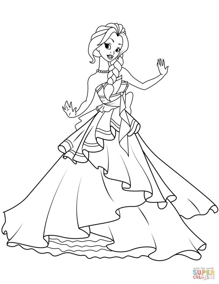 Princess Coloring Pages Cartoon Coloring Pages