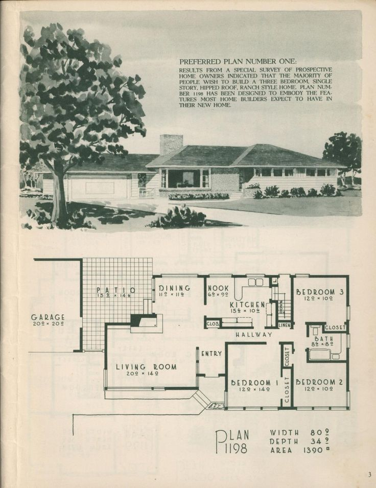 Plan 1198 from Selected home plans by