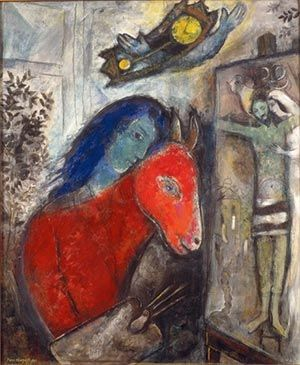 Marc Chagall, Self Portrait with Clock (1947).