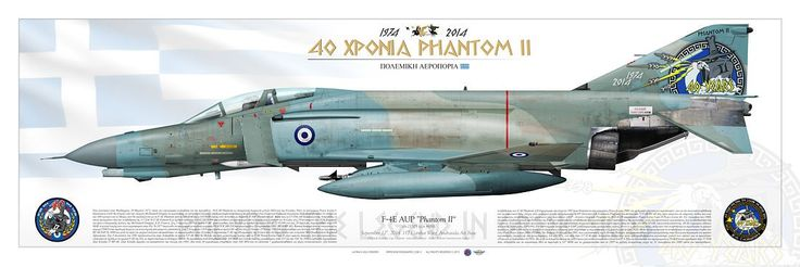 HELLENIC AIR FORCE . ΠΟΛΕΜΙΚΉ ΑΕΡΟΠΟΡΊΑ September 12th, 2014. 117 Combat Wing, Andravida Air Base Original drawing Ugo Crisponi  (aircraft scheme) - Karel Ankoné (anniversary badge)