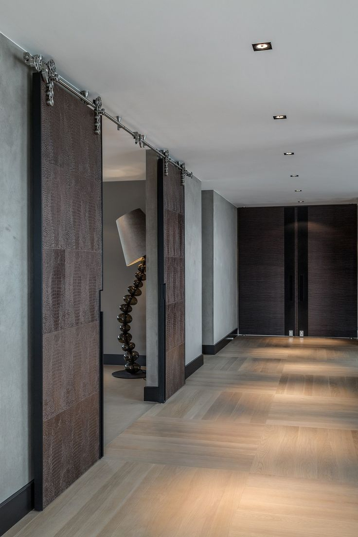 Fish skin sliding doors. Residence Rotterdam 29 Rotterdam Villa Displaying a Sophisticated Eco Chic Design by Kolenik
