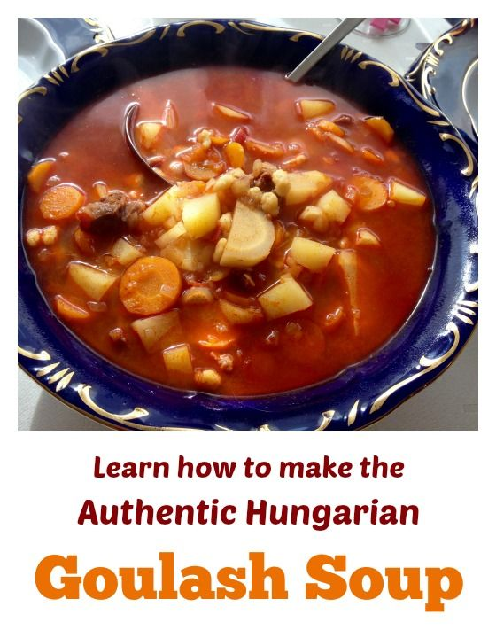 Authentic Hungarian goulash soup recipe. Anywhere in the world if you say the word goulash, people think of another word: Hungarian. Goulash is primarily a soup, also existing as stew. Csipetke pinched noodles are also added. Click for the recipe.