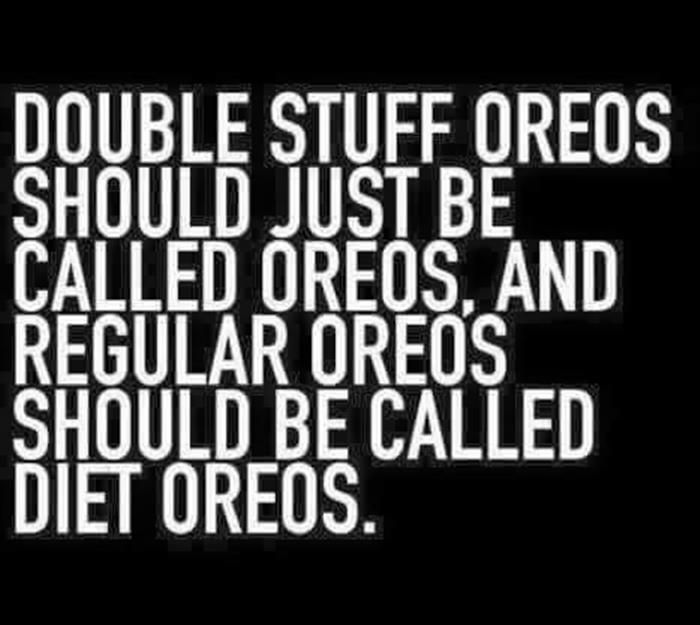Funny oreo quote @lilyslibrary I could get on board with a system like this!!!