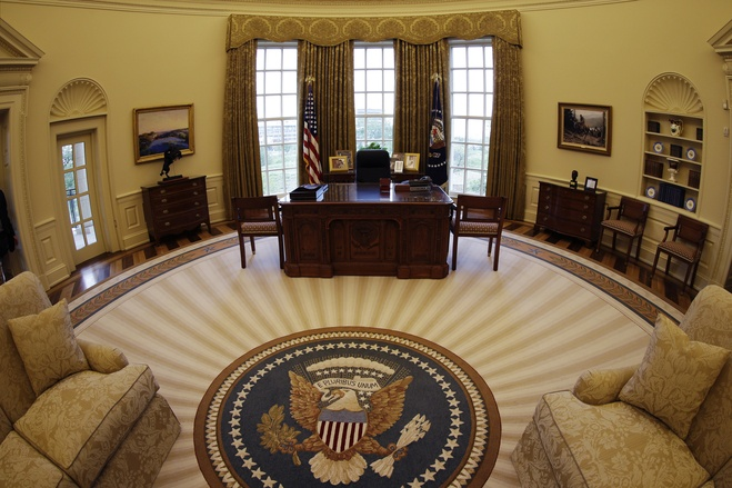 Oval Office Replica, George W. Bush Presidential Library