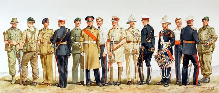The History of Royal Marines uniforms, 17th to 20th centuries.