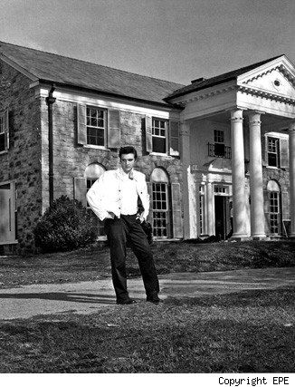 """Just over 55 years ago, Elvis Presley pulled off a rocking purchase for his parents: He bought them a 14-acre Memphis mansion known as """"Graceland."""""""