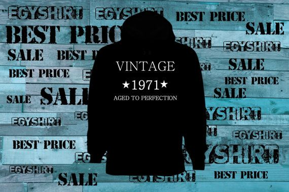 Vintage any year aged to perfection hoodie black any by EGYshirt