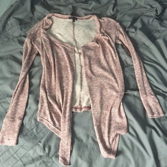 American Eagle maroon cardigan Maroon cardigan only worn once American Eagle Outfitters Sweaters Cardigans
