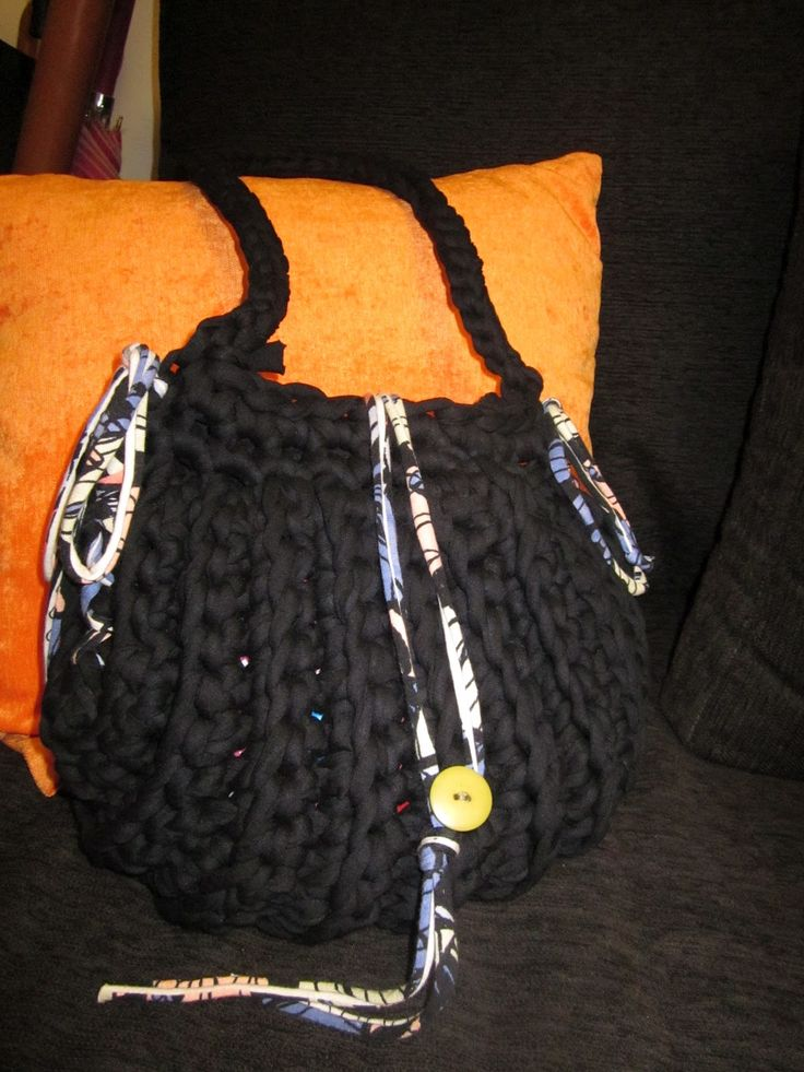 tamknitting: Tutorial Bolso Trapillo