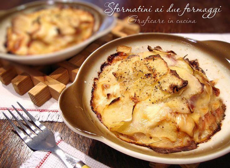 Sformatini ai due formaggi http://blog.giallozafferano.it/graficareincucina/sformatini-formaggi/