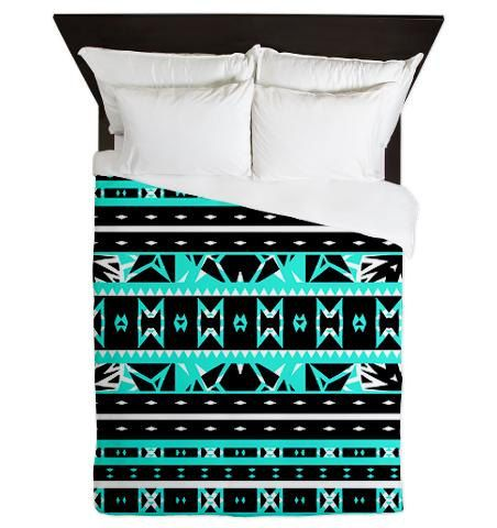 Tribal Queen Duvet Cover Mix 452 Ornaart Design by Ornaart, $199.00