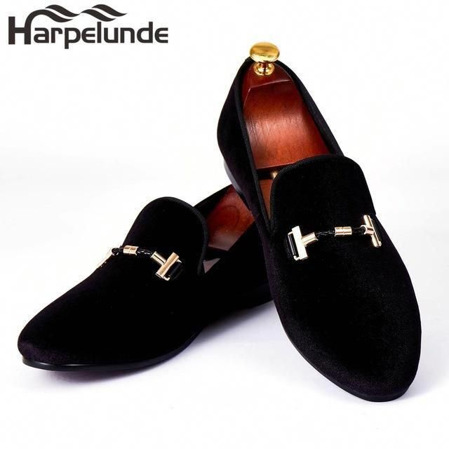 6413d0c511a Harpelunde Italian Men Dress Shoes Buckle Strap Wedding Shoes Red Velvet  Loafers Size 6-14  italianweddingshoes