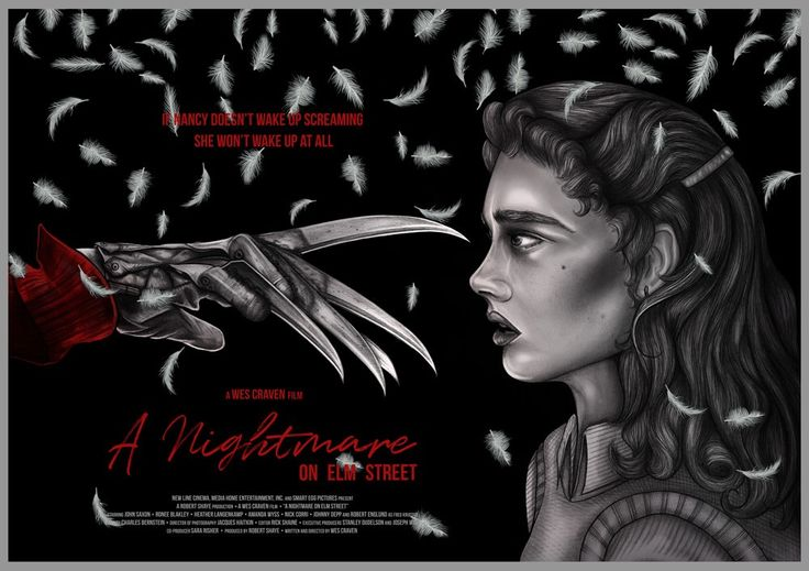"'A Nightmare On Elm Street' by Jemma Klein, a new limited edition print for the Cult Cinema Sunday screening of the film on Sunday May 14 at Hull's Fruitspace Cinema. 23"" x 16.5"" digital prints on..."