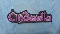 Cinderella embroidered logo back patch glam metal bon jovi whitesnake bon jovi