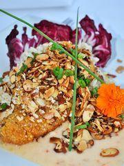 Chef Bryan Sutton's famous Hot-n-Crunchy Grouper. Rooster Restaurant - Naples, FL