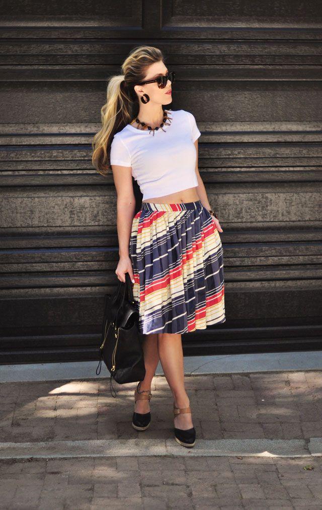 32 best High waist skirts & crop tops images on Pinterest
