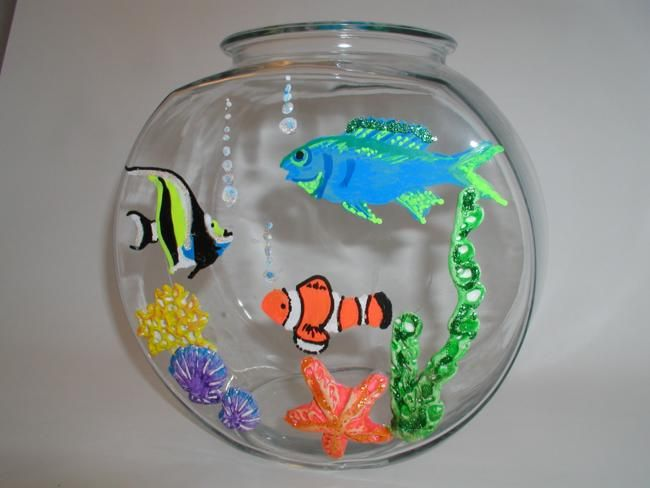 11 best images about painting ideas for kids room on for Fish art and craft