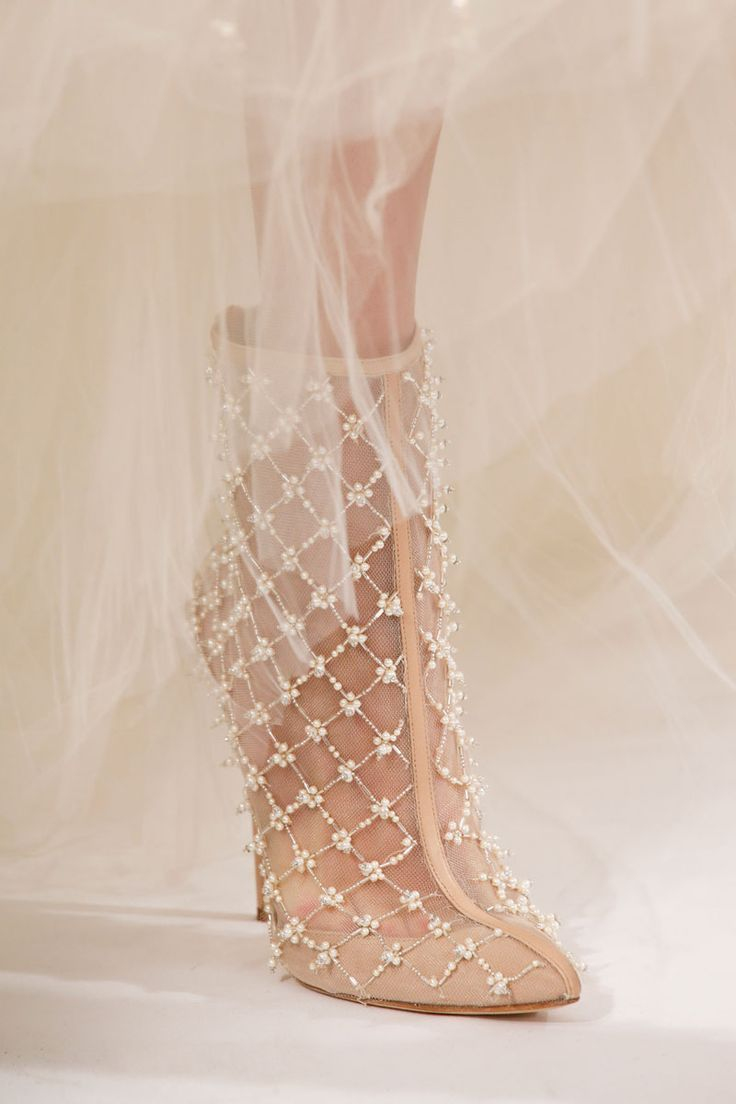 Oscar de la Renta bridal booties