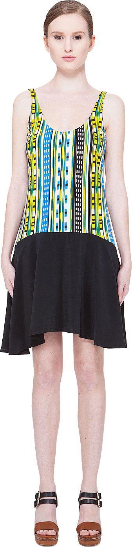 THAKOON ADDITION STRIPED TANK DRESS. #thakoonaddition #cloth #dress
