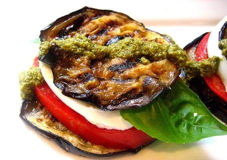 Grilled Eggplant Caprese Stacks | Meatless | Pinterest