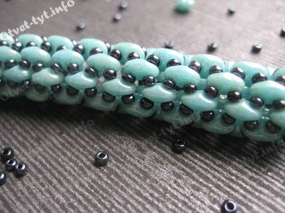 """Super-duo rope.  Note the other """"patterns"""" samples at the bottom.  (Translate)  #Seed #Bead #Tutorials"""