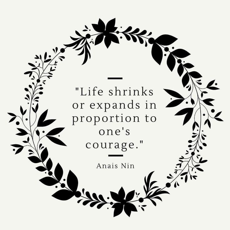 Quote of the day   #quote #quoteoftheday #anaisnin #words #canva #canvalover #typo #typography #wreath #inspire #courage #inspiring #happy #life