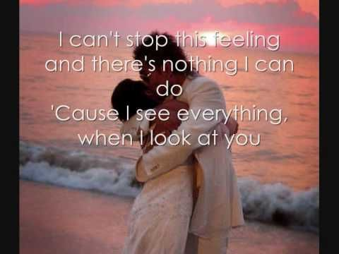 "Firehouse - When I Look Into Your Eyes (Lyrics) Played just after we said ""I do""             <3 <3"